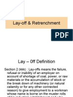 Lay-Off & Retrenchment