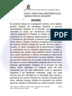 Agroforestal Ecuador Definiciones