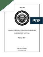 Lab Manual-CHM2354 W2014