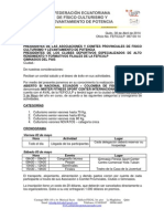 Invitacion Campeonato Nacional Abierto de Fisico Culturismo - Tulcan 2014