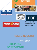 RETAIL INDUSTRY IN DYNAMIC BUSINESS ENVIRONMENT