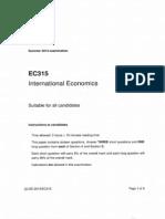 EC315 International Economics LSE Past Paper