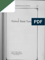 Federal Estate Taxes by John P. McLaughlin Collector Internal Revenue