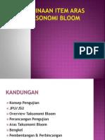 Pembinaan Item Aras Taksonomi Bloom