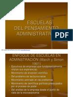 Escuelas Del Pensamiento Administrativo