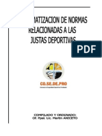 Sistematizacion de Normas - Justas Deportivas - Año 2013