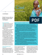 Rice Today Vol. 13, No. 2 An interview with Peinda Cisse Senegal's mother of Modern Rice Farming