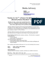 Boston Muslims for Life Media Advisory