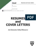 Harvard Resume Cover Letter