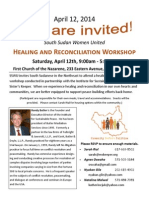 Boston Healing and Reconciliation Workshop