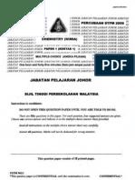 STPM Trial 2009 Che Q&A (Johor)