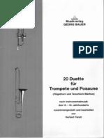 Varios - 20 Duos Para Trombon y Trompeta - Score y Particelas