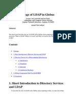 Usage of LDAP in Globus