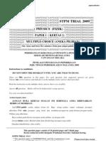 STPM Trial 2009 Phy Q&A (Melaka)