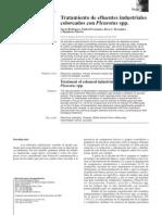 Tratamiento de Efluentes Industriales Coloreados Con Pleurotus Spp