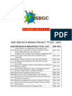Ieee 2009 Data Mining Project Titles in Java