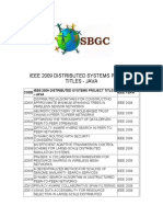 Ieee 2009 Distributed Systems Project In java