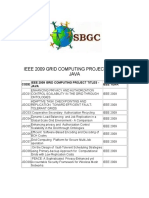 Ieee 2009 Grid Computing Project Titles in Java