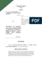Aquino Robredo Petition Camarines Sur