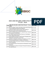 Ieee 2009 Secure Computing Project Titles in Java