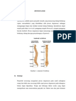 Refreat    Spondylosis  unila