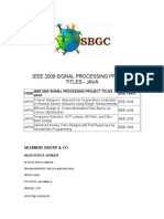 Ieee 2009 Signal Processing Project Titles in Java