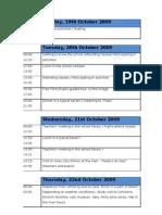 Meeting Agenda October 2009