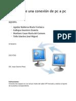 Reporte de la práctica de conectar dos computadoras a una misma red