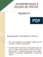 Apostila 01 IPT - 2014