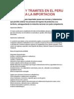 Normas y Tramites en El Peru Para La Importacio1