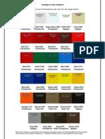 Plexiglass Color Chart