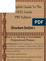 TOEFL - Structure 7.0
