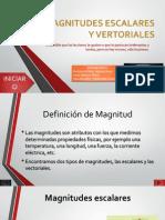 Magnitudes Escalares y Vertoriales