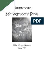 classroom management plan paige harrissmallpdf com 1