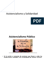 Asistencialismo y Solidaridad