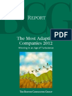 BCG Most Adaptive Companies 2012