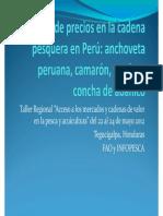 Análisis de precios en la cadena pesquera en Perú - Sigbjorn Tveteras, Consultor FAO-NORAD