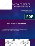 Sistema de Base de Datos Distribuida