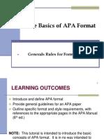 APA Format - General Rules