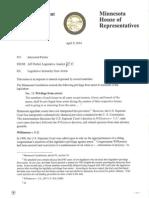 Legislative Immunity Memo