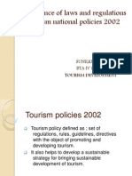 Tourism Policies 2002 Sunil Ppt - Copy