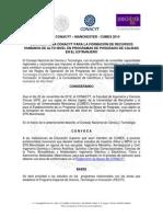 Convocatoria Becas CONACYT-Manchester-CUMEX 2014
