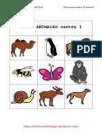 129 Bingos de Animales, Letras, Etc.