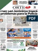 Periódico Norte de Ciudad Juárez edición impresa del 10 abril del 2014