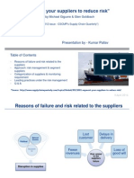 """Operation Management - """"Segment your suppliers to reduce risk"""""""