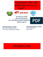 Project on After sale service, acquisition and retention process of Airtel