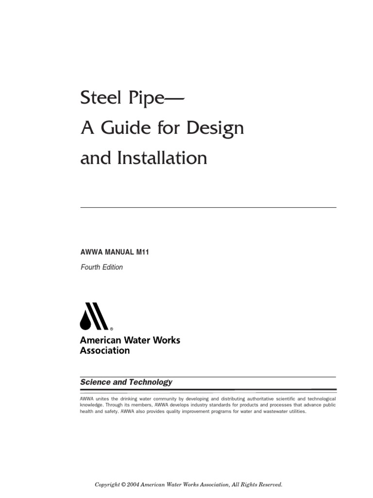 awwa m11 4th edition steel pipe a guide for design and rh scribd com awwa manual m11 harness restraint awwa manual m11 harness restraint