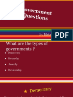 answers for governments questions by matan