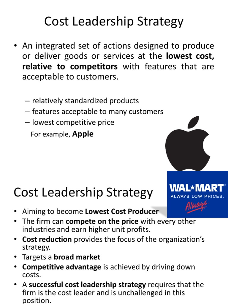 Cost Leadership Strategy Final Competition Strategic Management