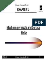 Machine Symbols & Surface Finish